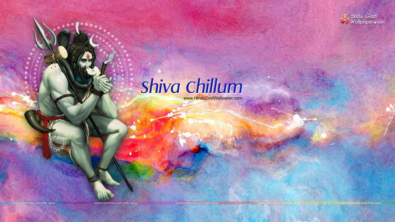 Lord Shiva Chillum Hd Wallpaper Bhole Baba Smoking Wallpapers