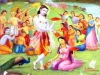 Krishna Playing Holi