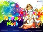 Lord Ganesha Holi
