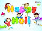 Happy Holi Cartoon