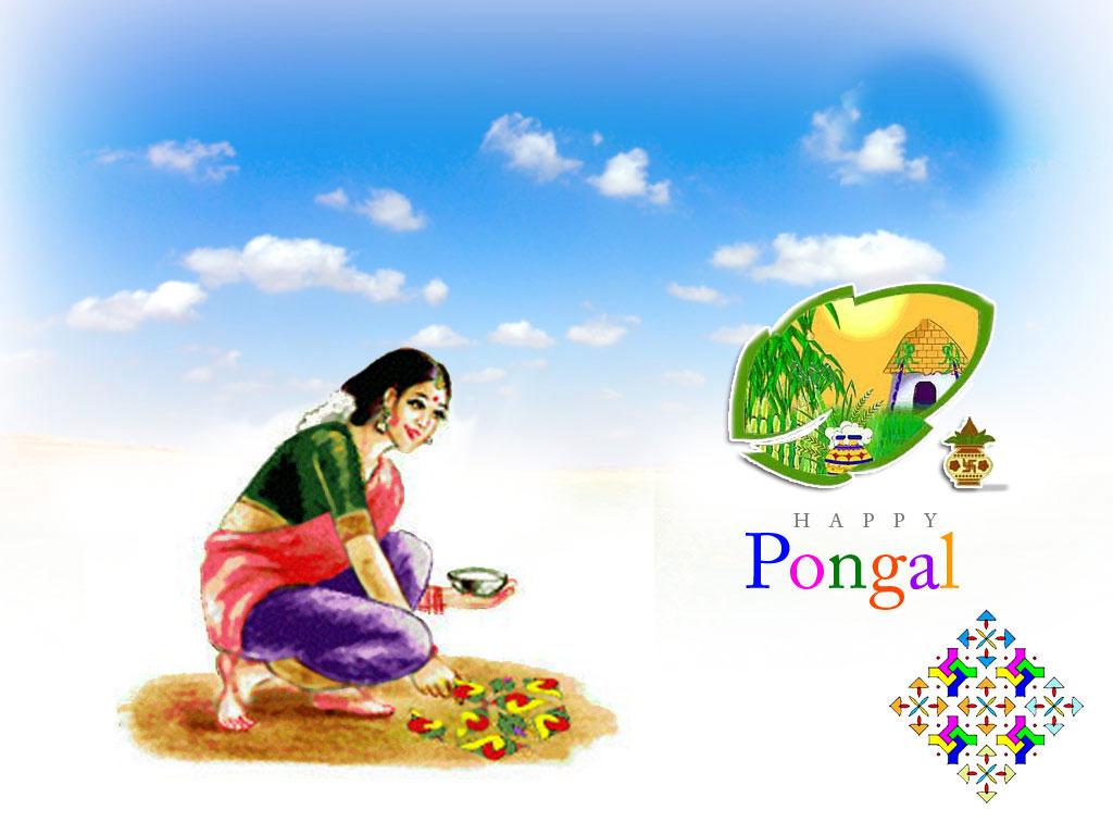 happy pongal wallpaper
