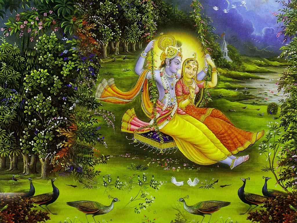 1029 radha krishna ras leela wallpaper