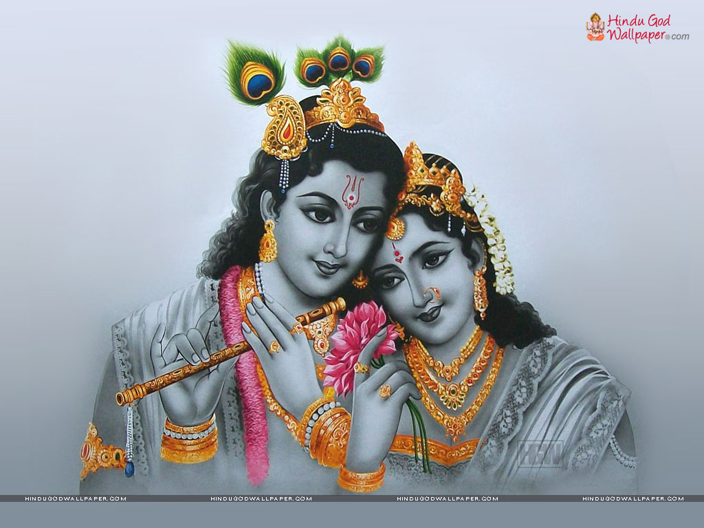 Radha Krishna Black and White Wallpaper Download
