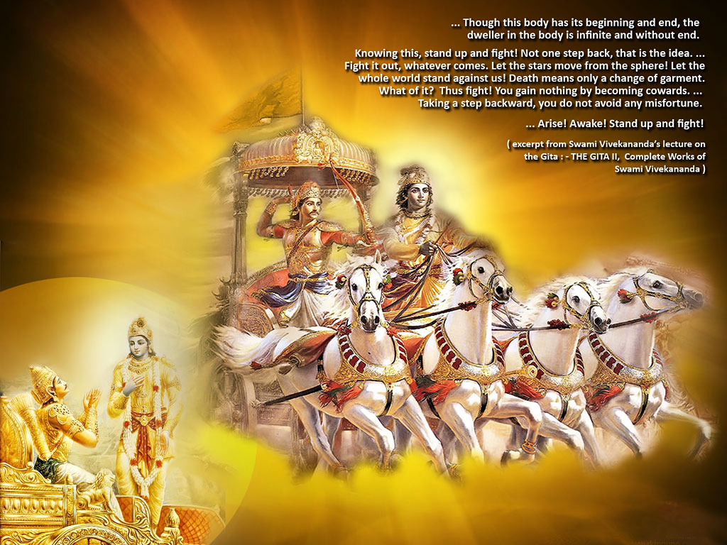 bhagvad gita The bhagavad gita is the cornerstone of the hindu faith and one of the world's  greatest religious texts gandhi called it his 'spiritual dictionary', while as a.