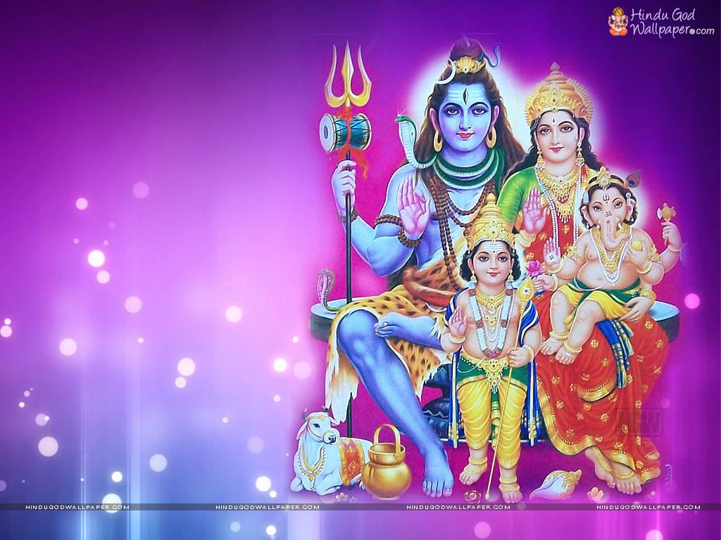 Shiva Parvati Ganesh Kartikeya Hd Wallpaper Free Download