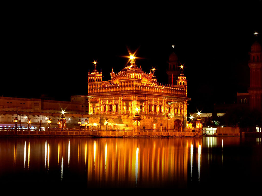 Golden temple night wallpaper full hd wallpapers - Golden temple images hd download ...