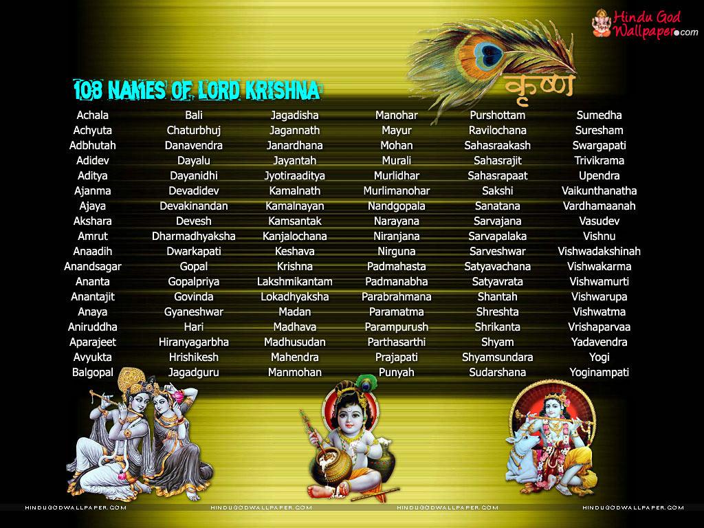 Shree Krishna Black Wallpaper for Desktop