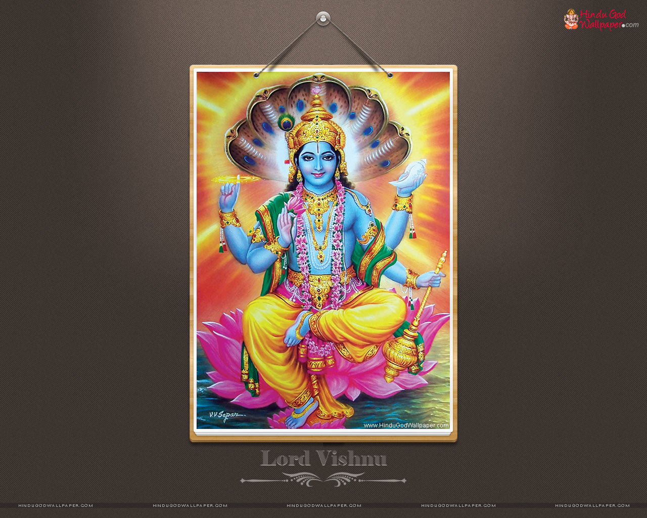 lord vishnu wallpaper