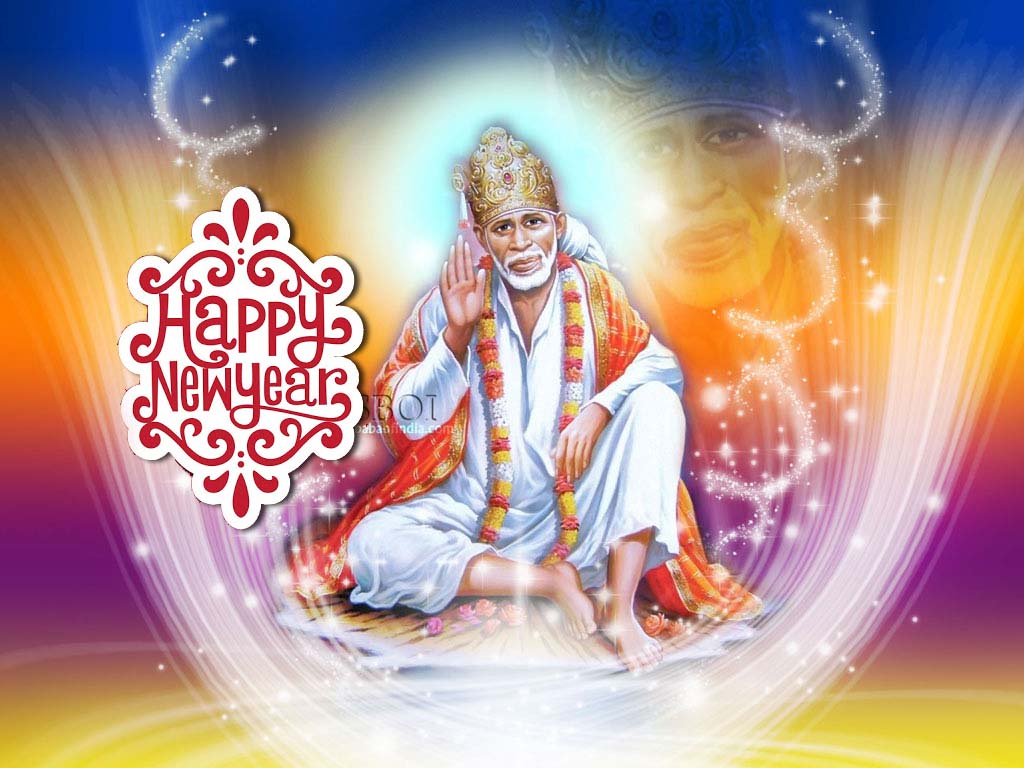 Download Sai Baba Latest Wallpapers Gallery: New Year Sai Baba Wallpaper Download