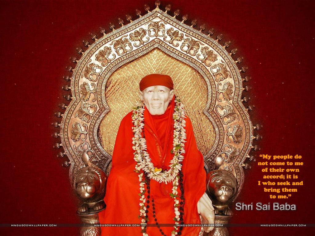 Shirdi Sai Baba Wallpaper With Quotes