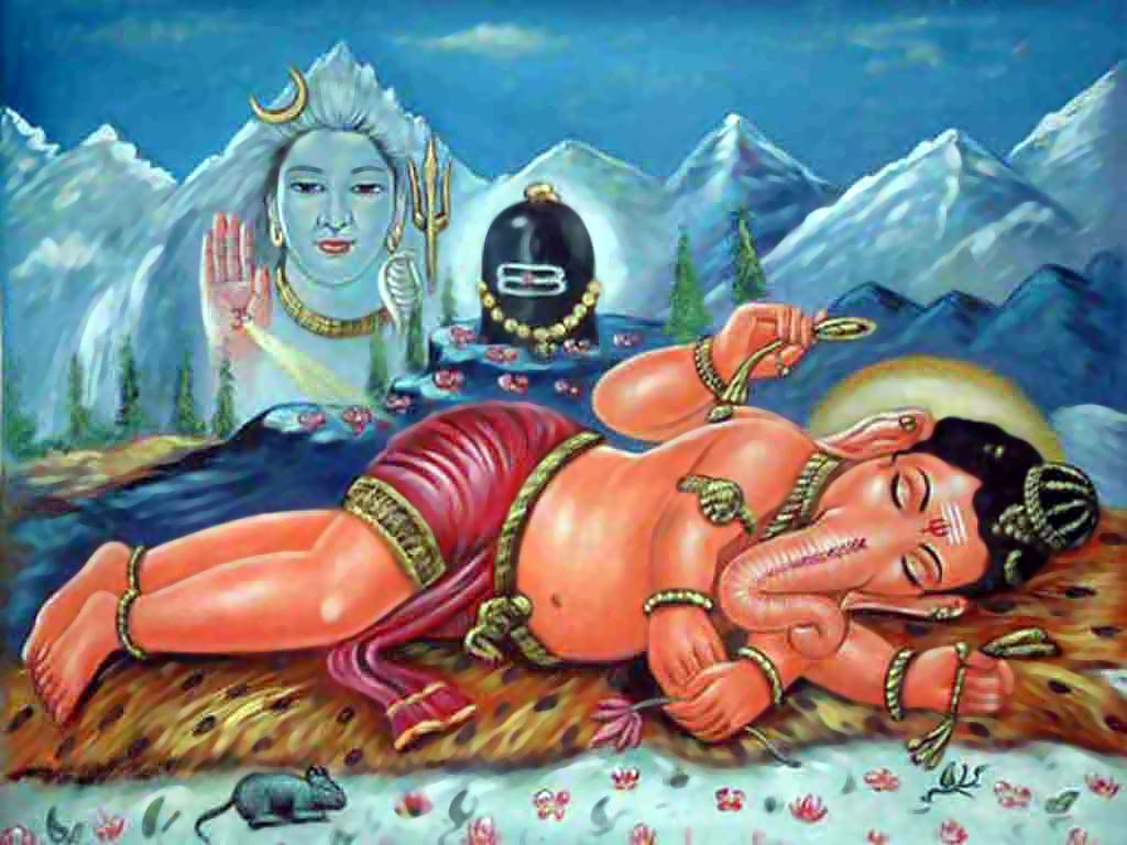 Sleeping Ganesha
