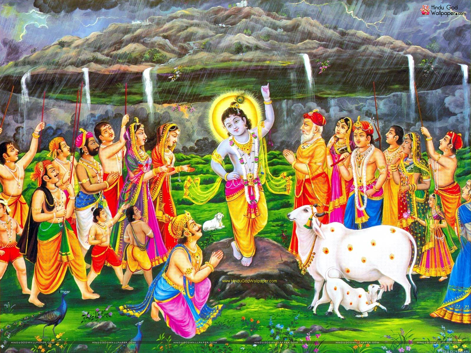 govardhan krishna wallpaper