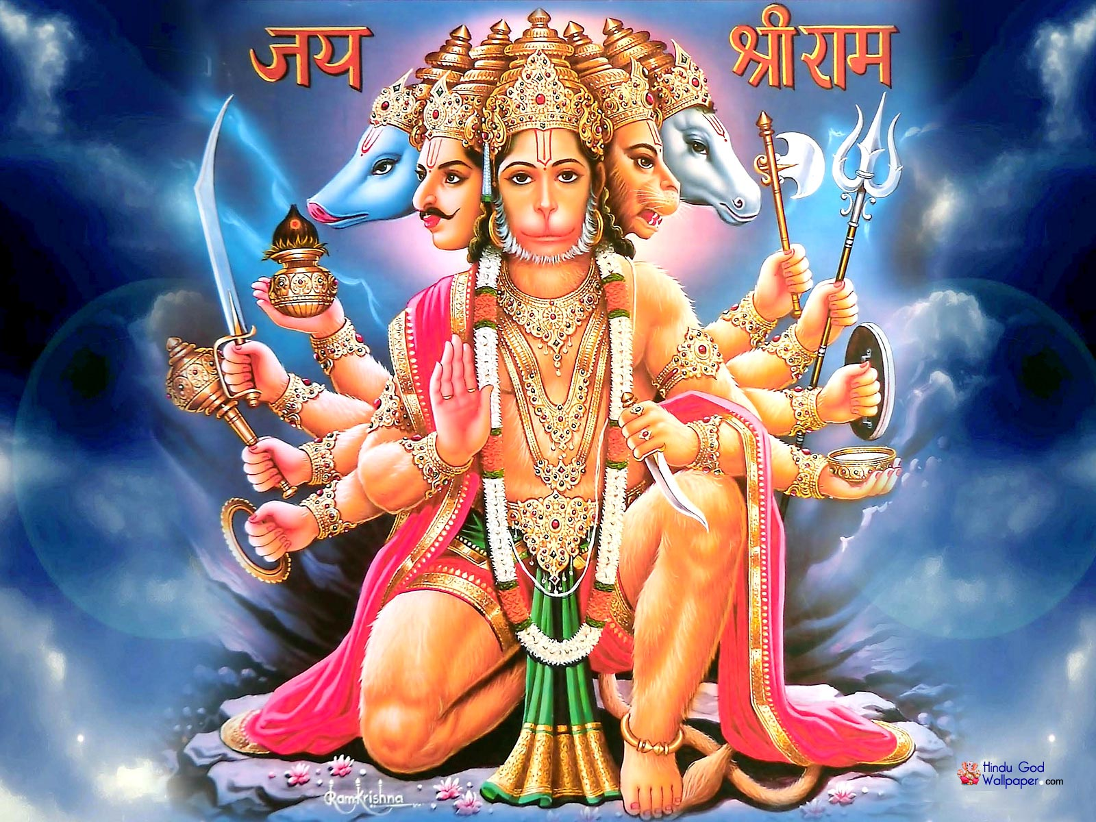 Rama kidnapped panchamukhi hanuman origin in wormhole ramani 39 s blog - Panchmukhi hanuman image ...