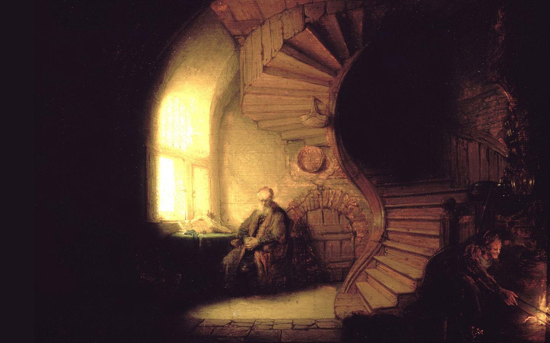 Rembrandt Philosopher In Meditation Wallpaper Download