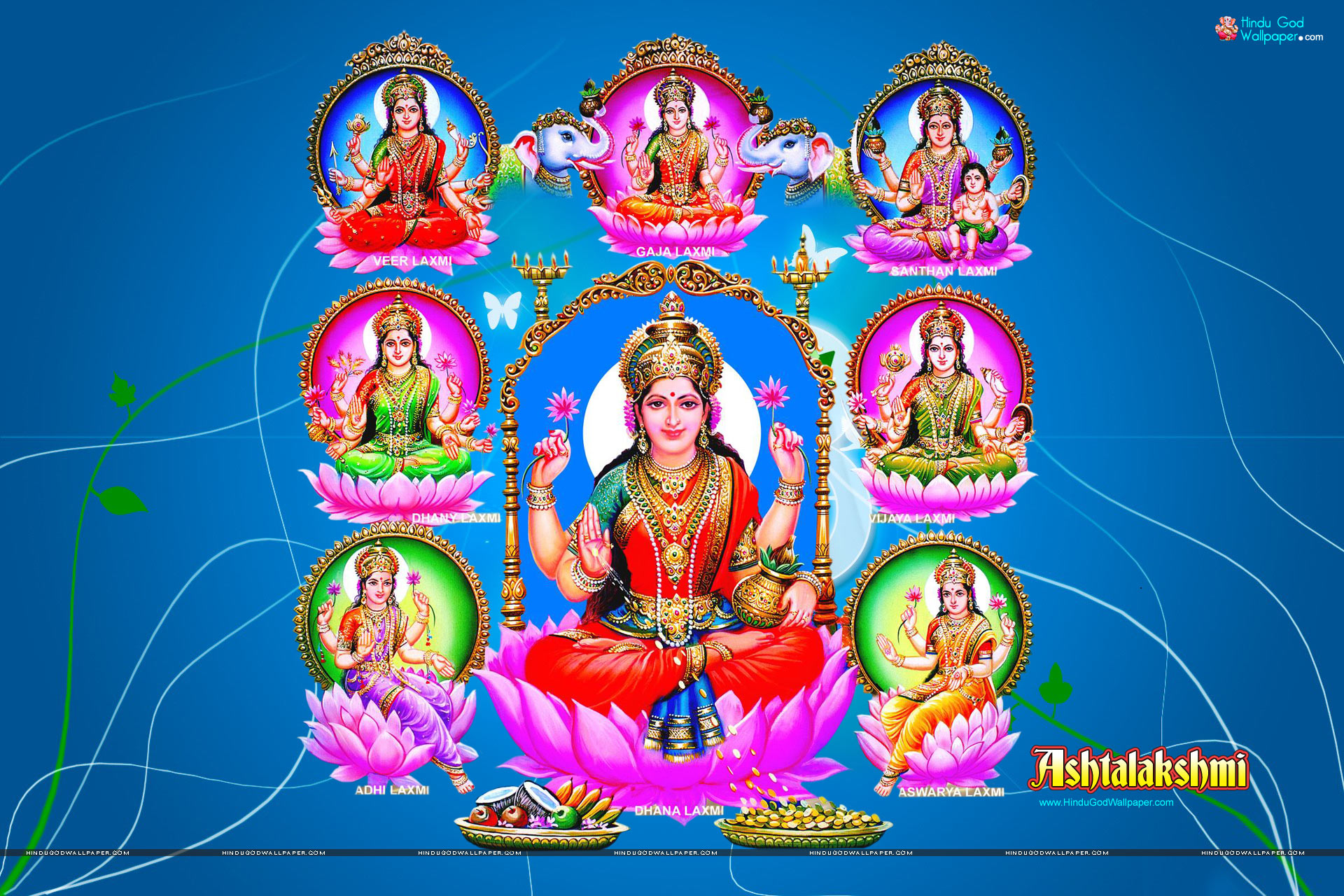 Goddess Ashta Lakshmi Wallpapers Free Download