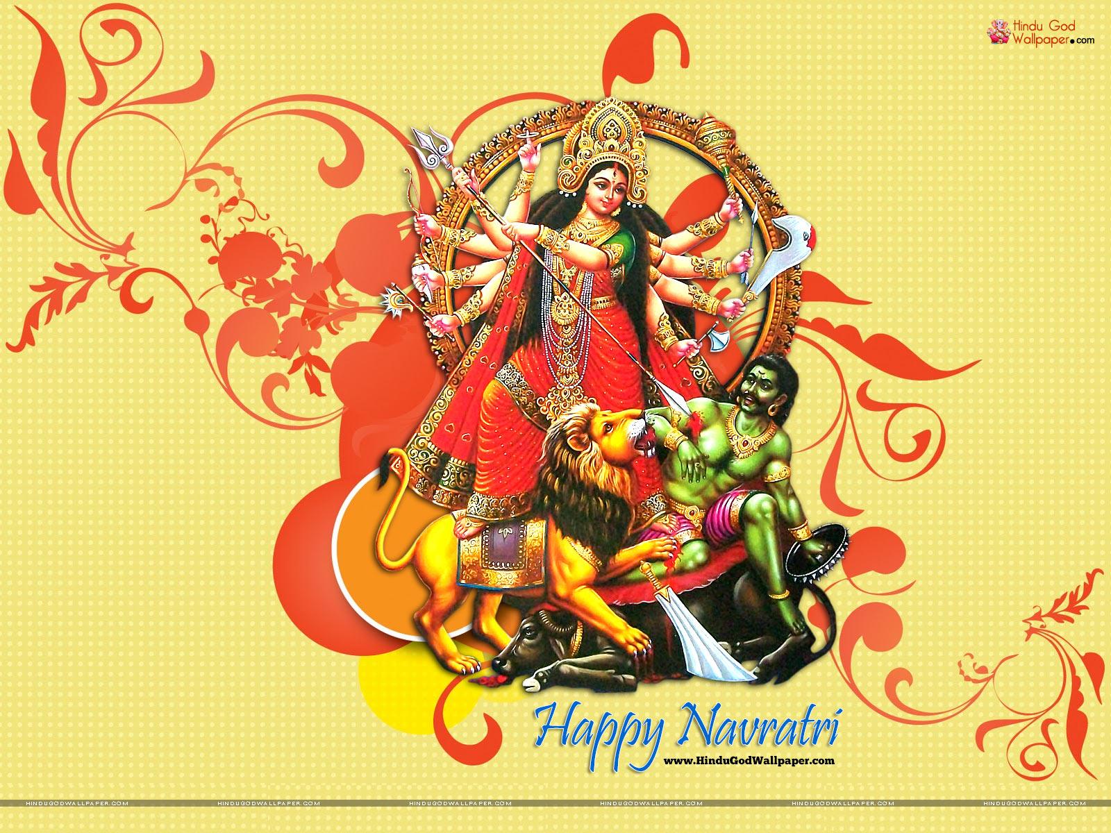 Navratri Greetings Wallpaper Free Download
