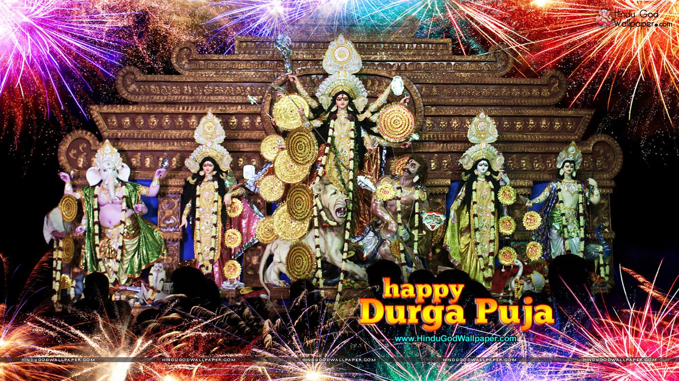 Happy Durga Puja Hd Wallpaper For Desktop Download