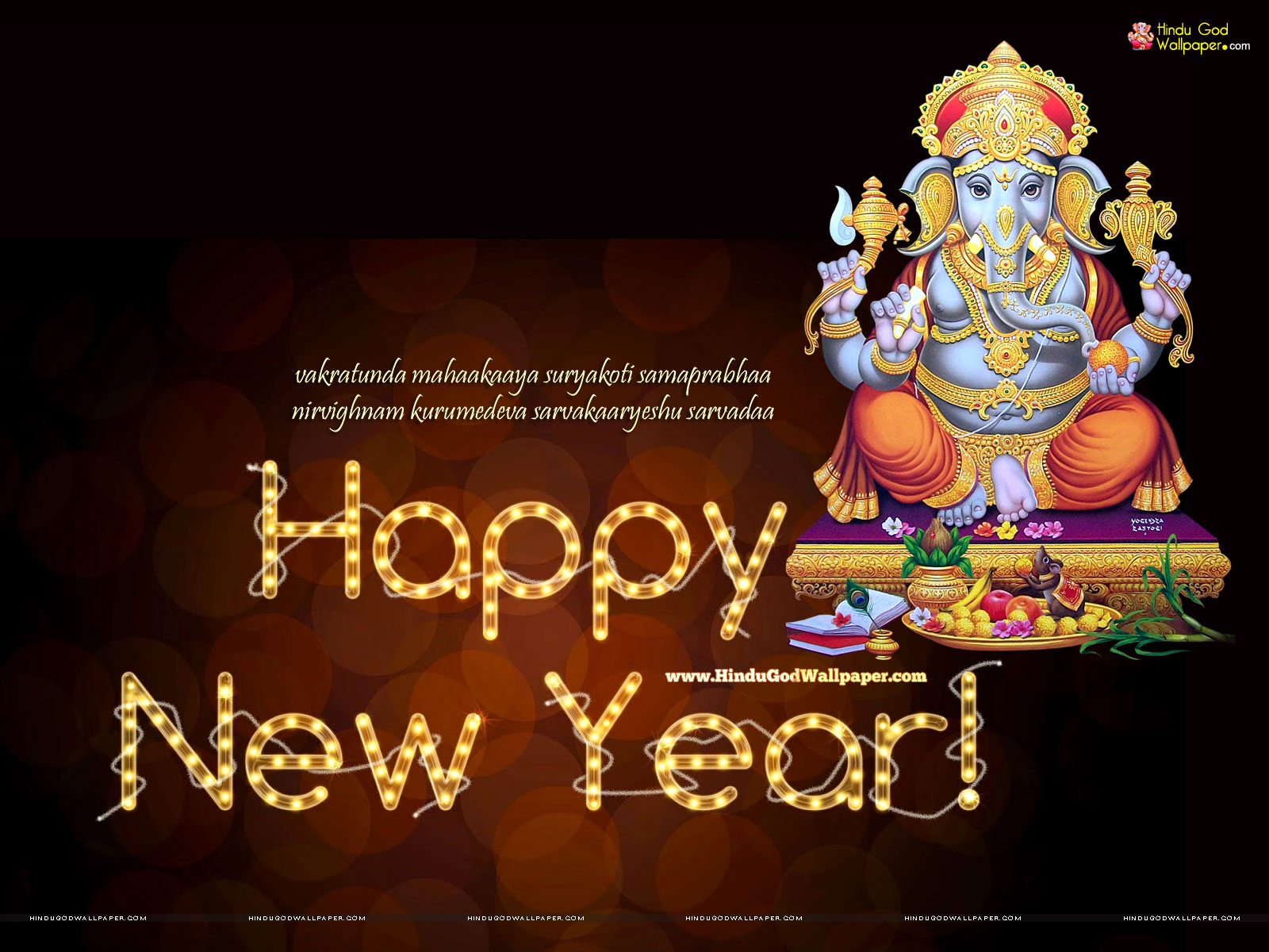 New Year Ganesh Wallpaper Free Download