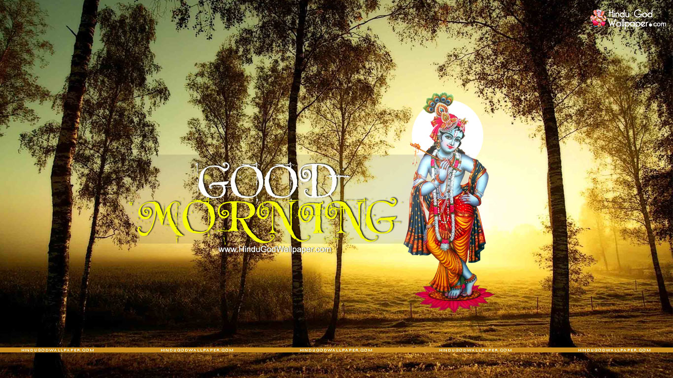 2745 good morning krishna wallpaper3