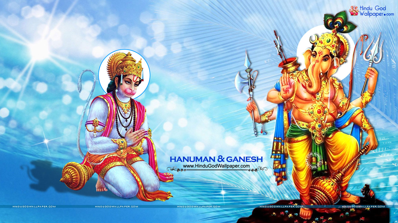 Hanuman Ganesh Wallpaper For Desktop Free Download