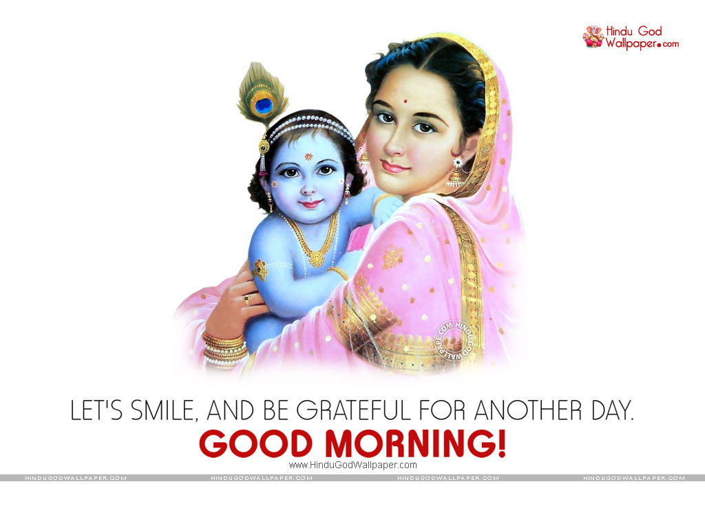 Krishna Morning Wallpaper