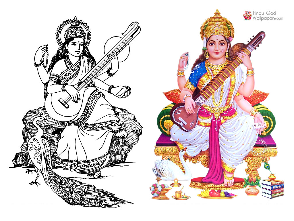Saraswati Photo Black White