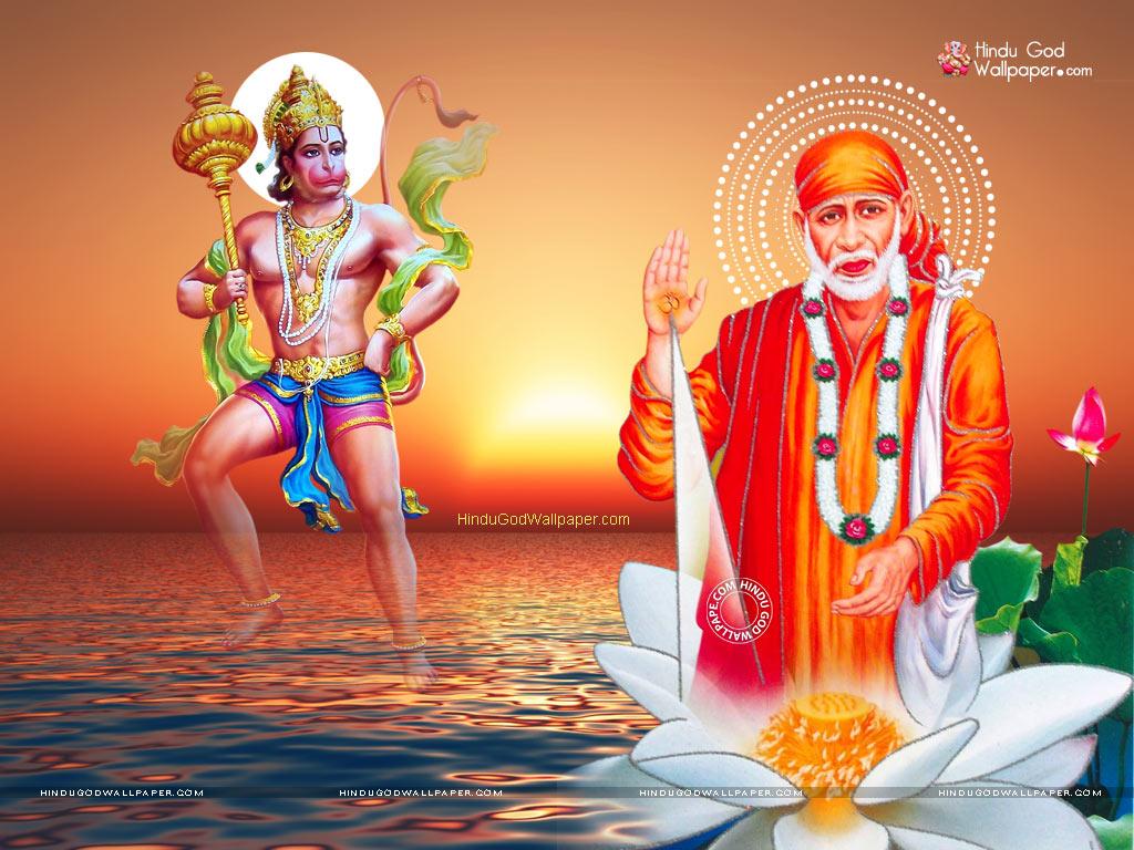 Sai Baba and Hanuman Wallpapers & Images Free Download
