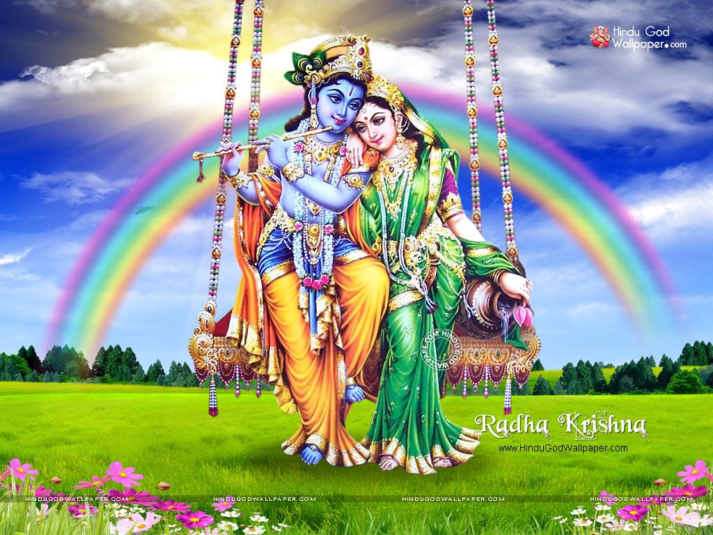 Radha Krishna Jhula Wallpaper