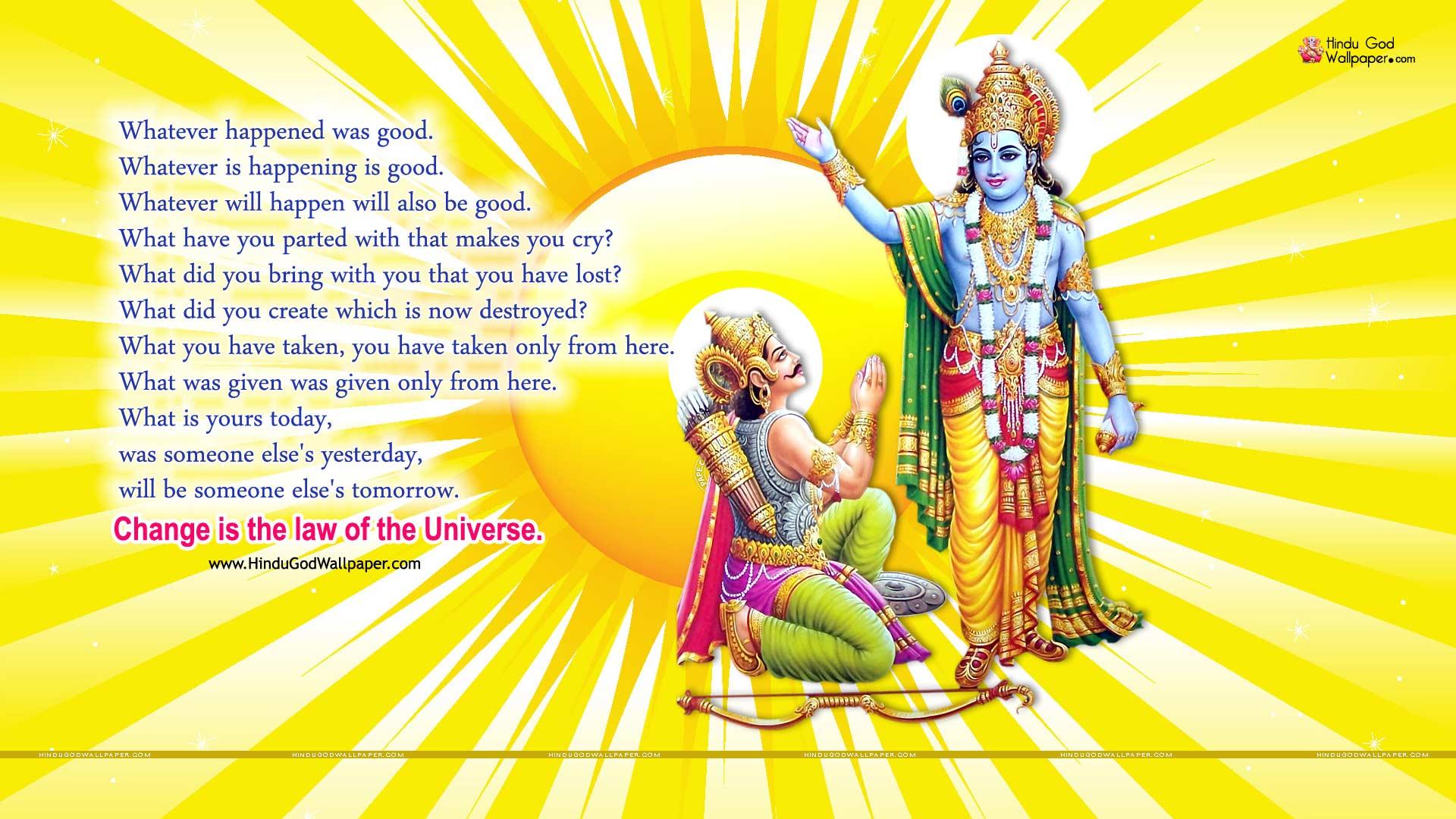 Bhagavad Geeta HD Wallpapers