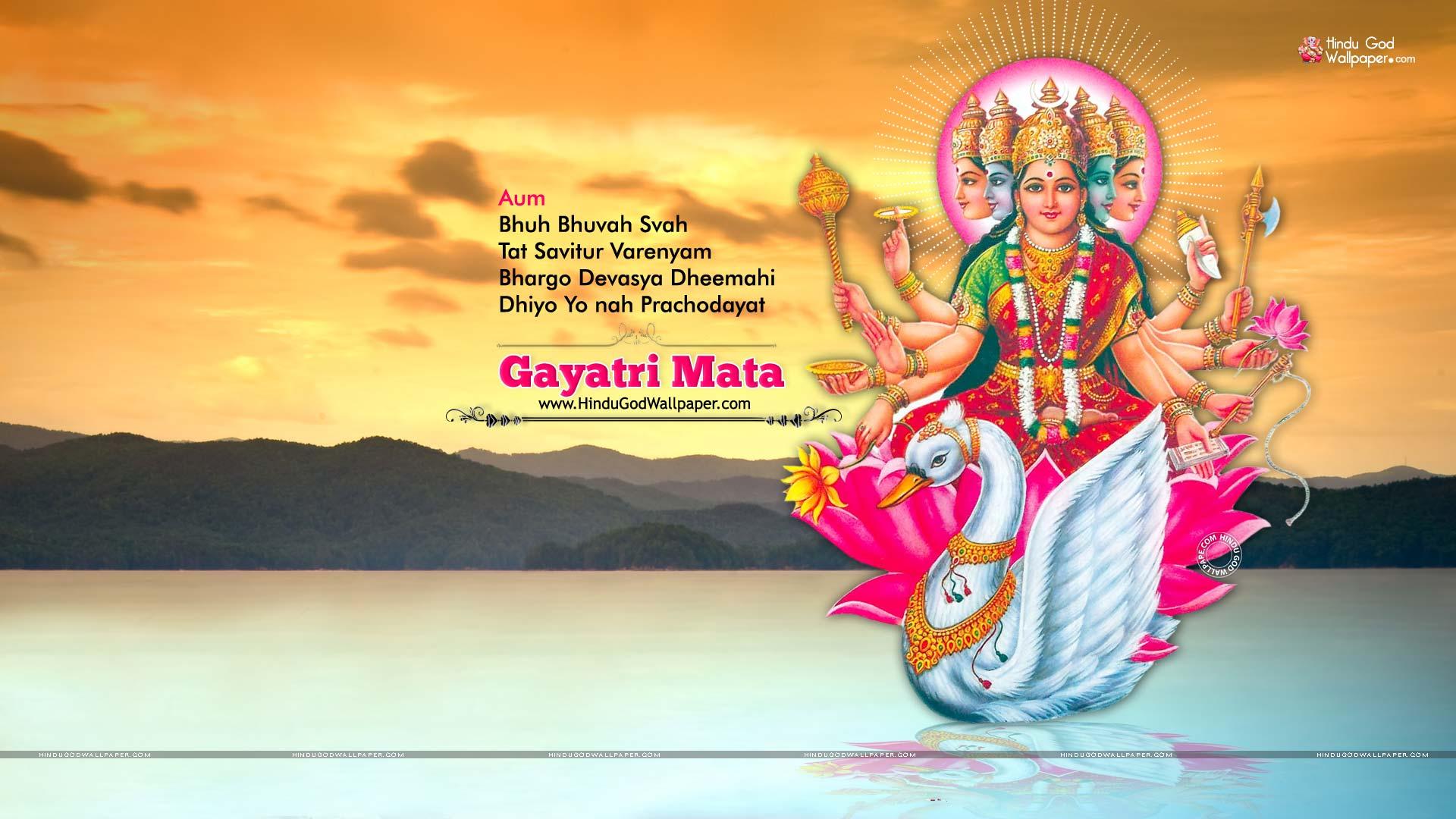 1080p Gayatri Mata Hd Wallpaper Full Size Free Download
