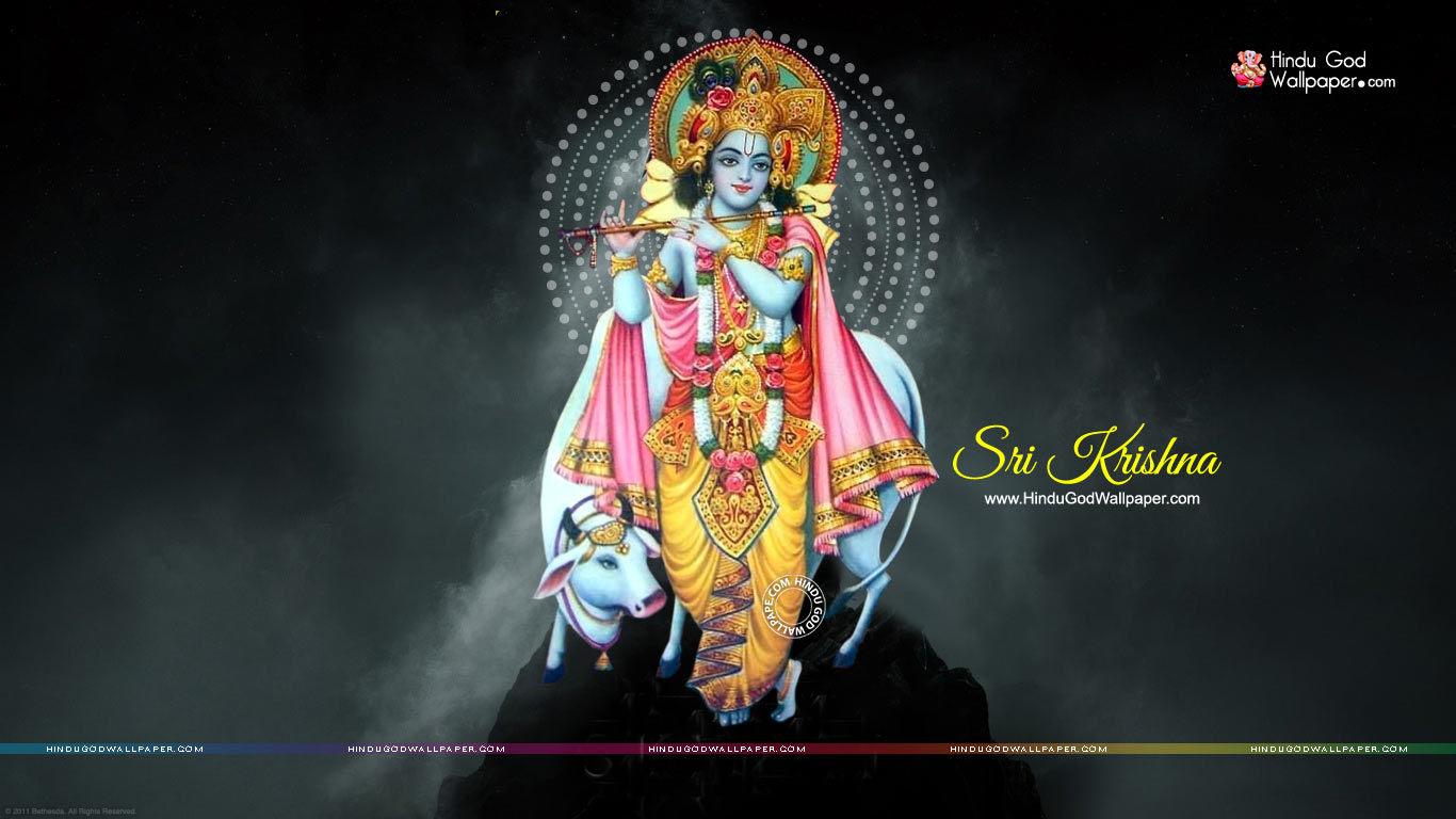 Lord Krishna Wallpaper 1366x768 Hd Free Download