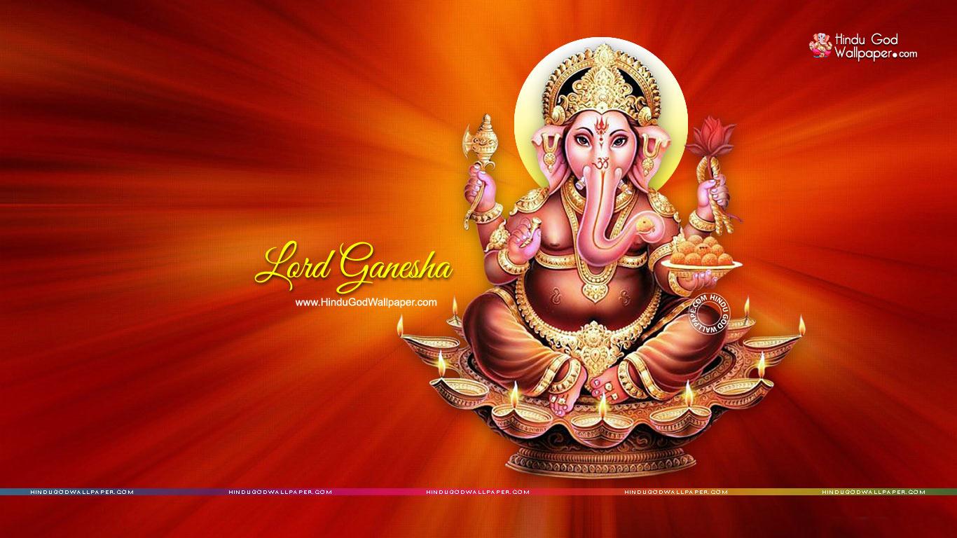 1366x768 ganesha hd wallpaper wide hd free download