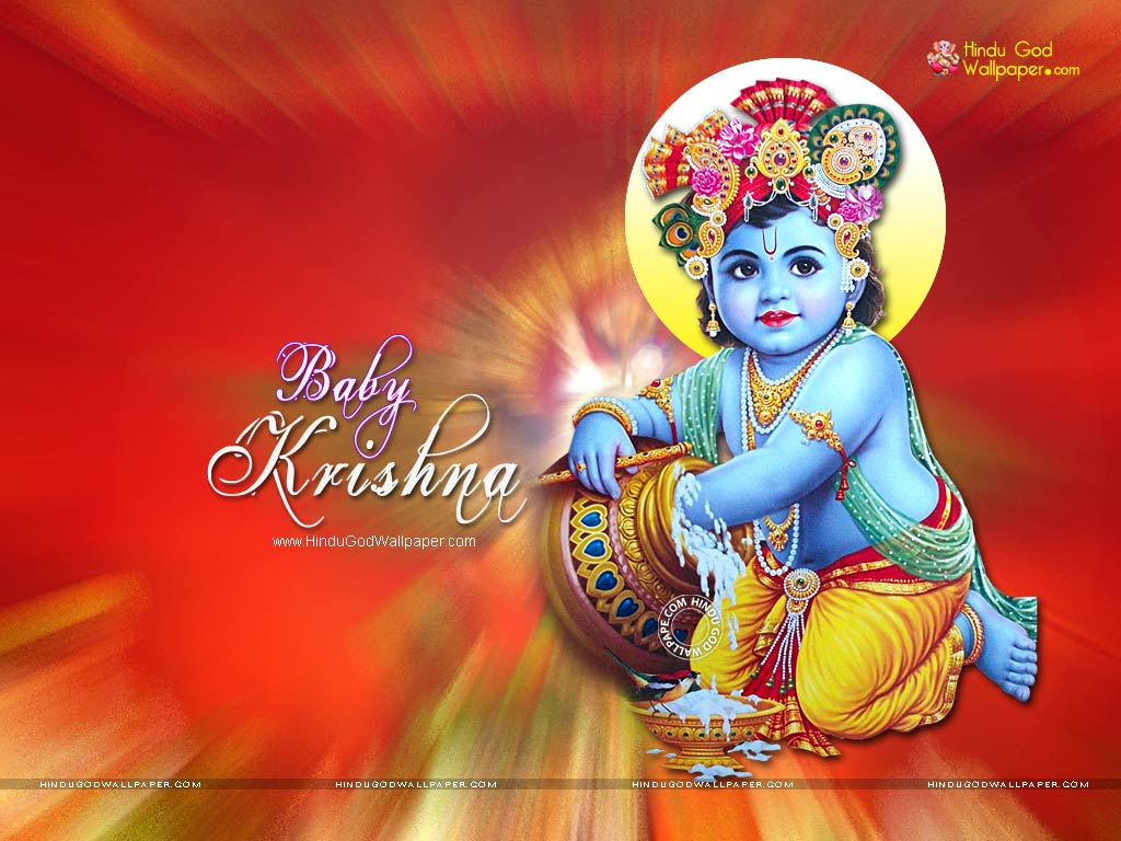 3294 cute baby krishna wallpaper