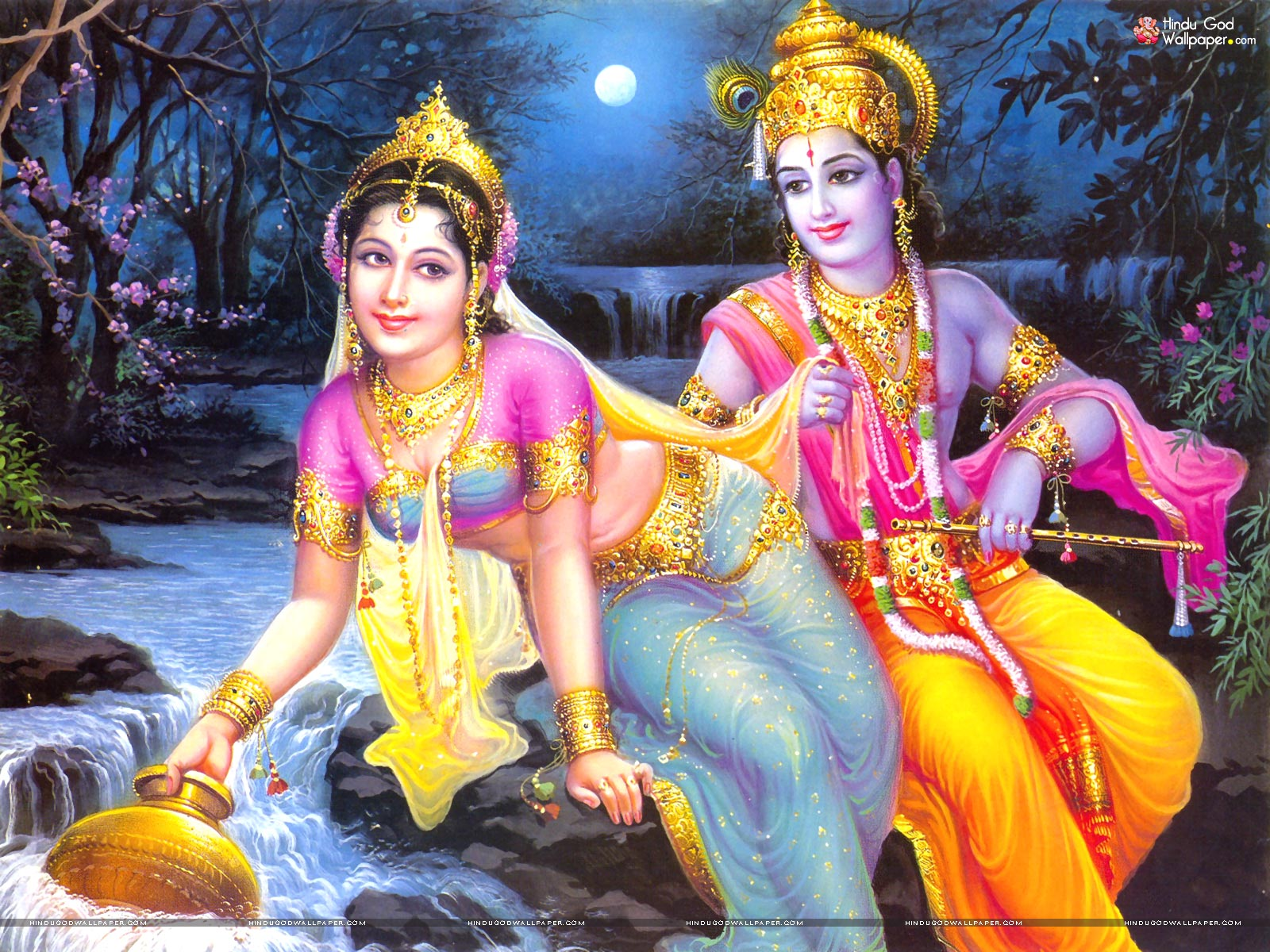 gods radha krishna wallpaper
