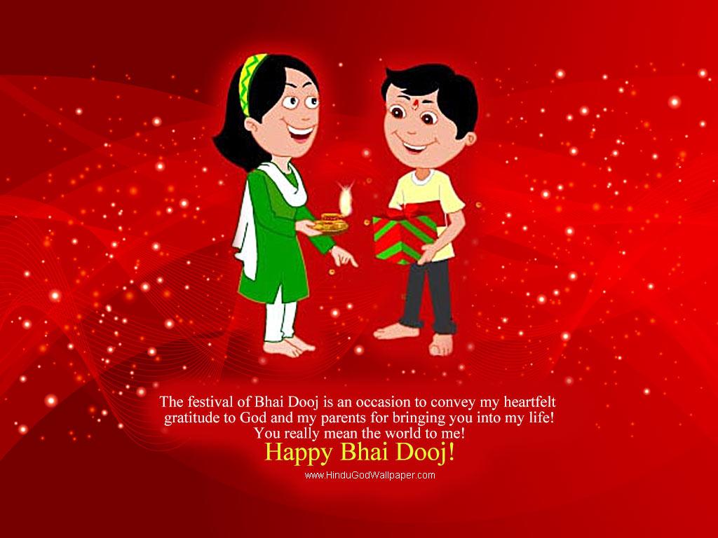 Santa Banta Happy Bhai Dooj Wallpapers Free Download