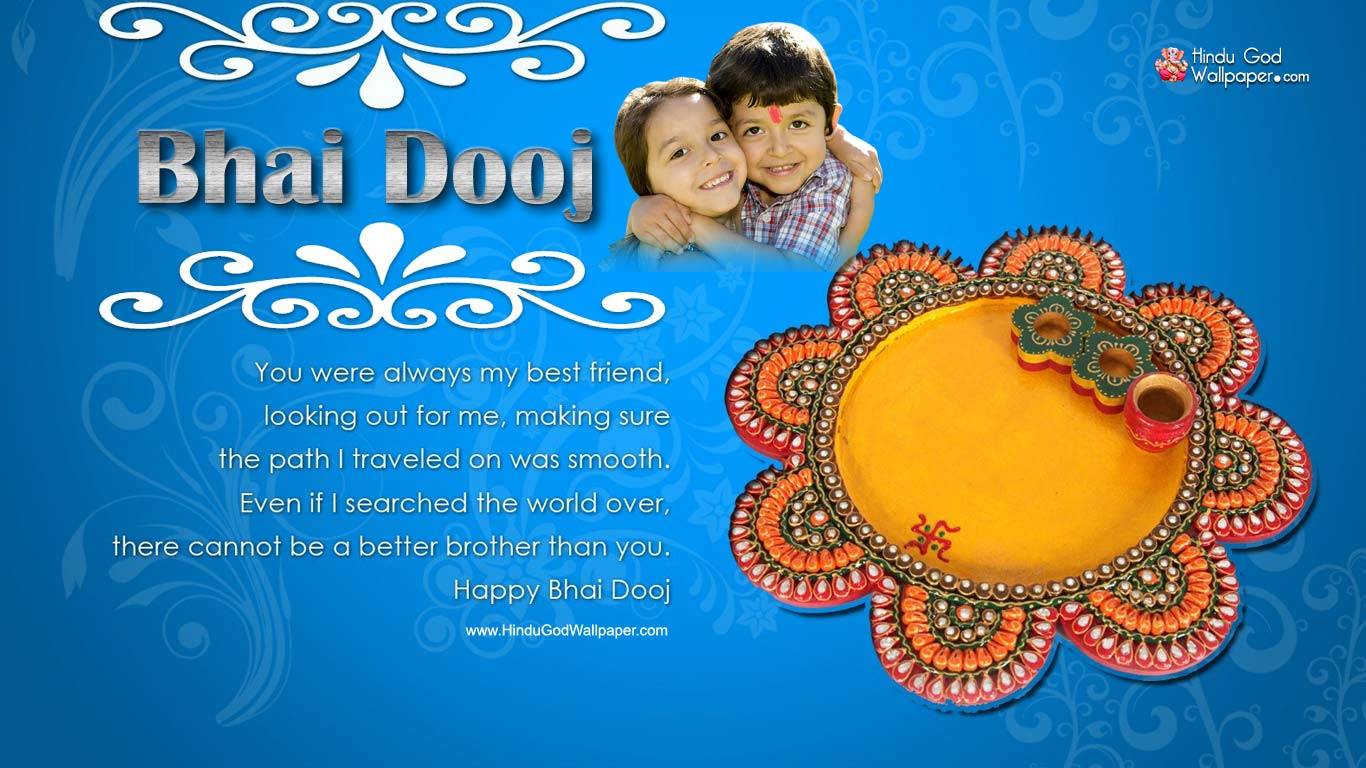 happy bhai dooj hd wallpaper