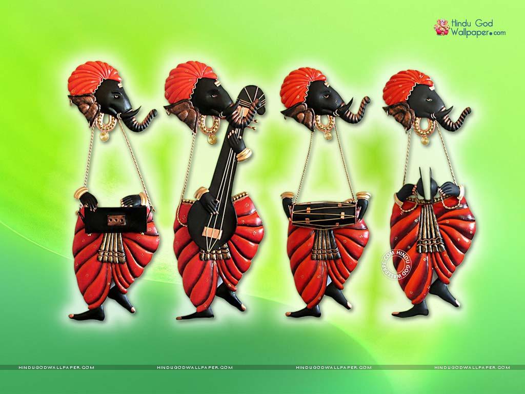 dancing ganesha wall hanging