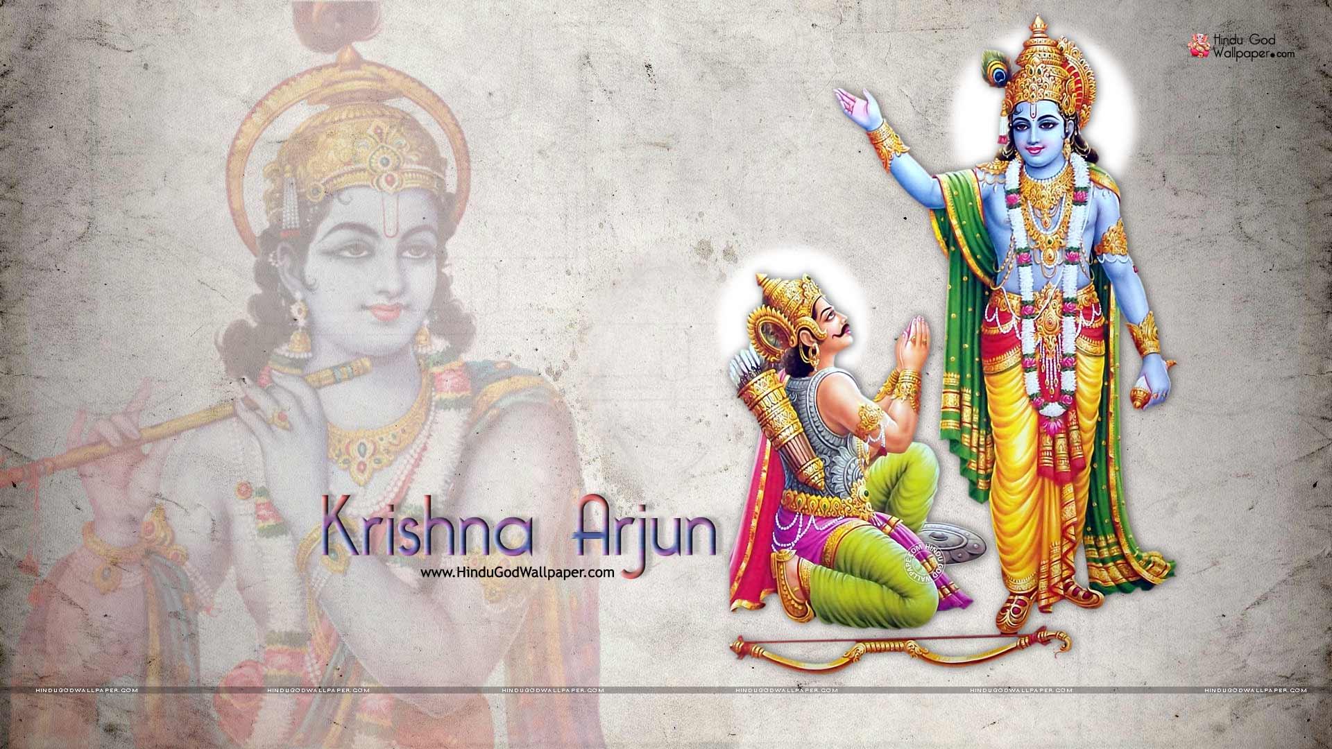 krishna arjun wallpaper hd