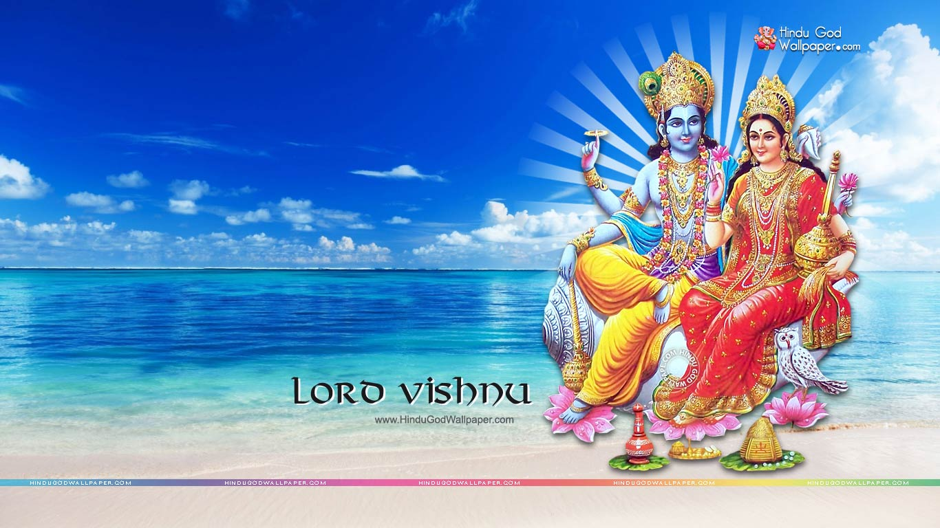 lord vishnu hd wallpapers 1366x768