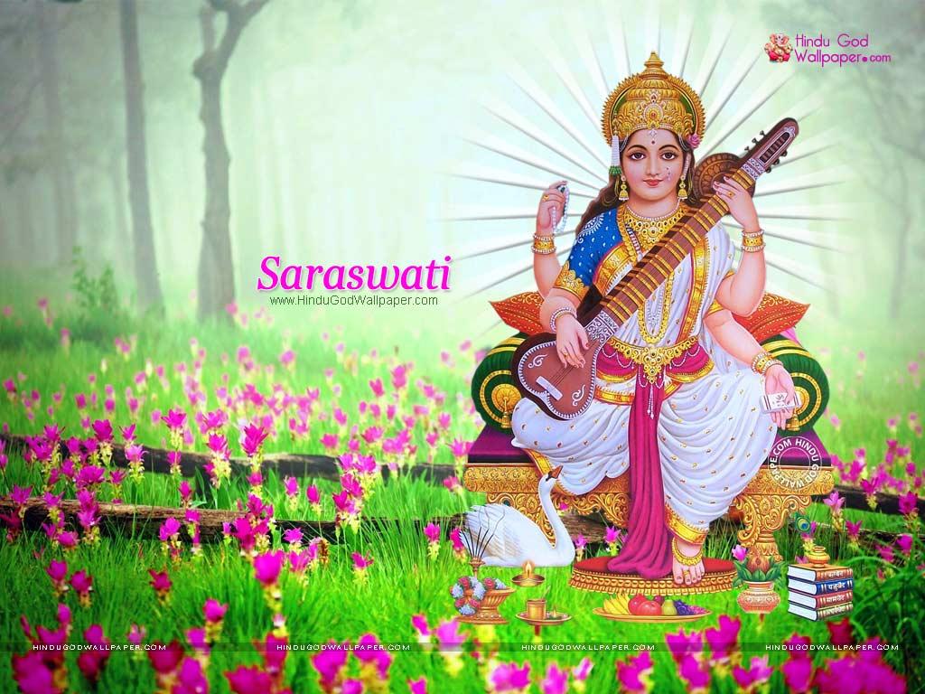 hindu goddess saraswati wallpapers
