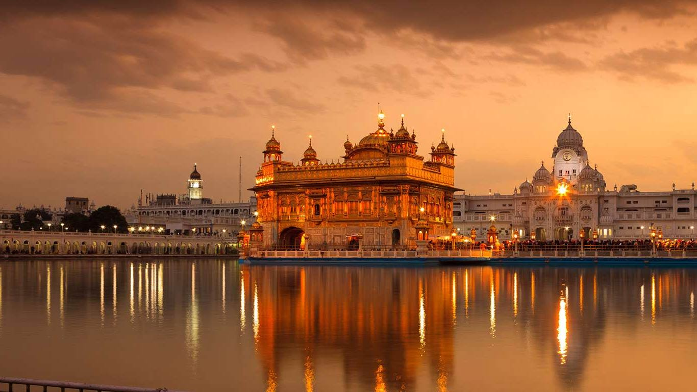 golden temple hd wallpaper 1366x768