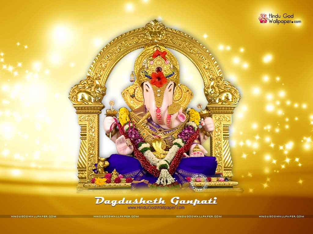 dagdusheth ganpati wallpaper