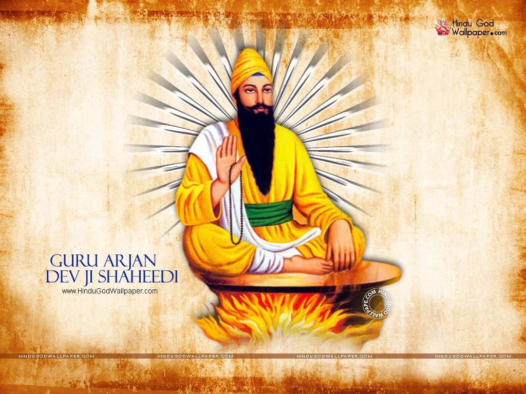 sri guru arjan dev ji shaheedi wallpapers