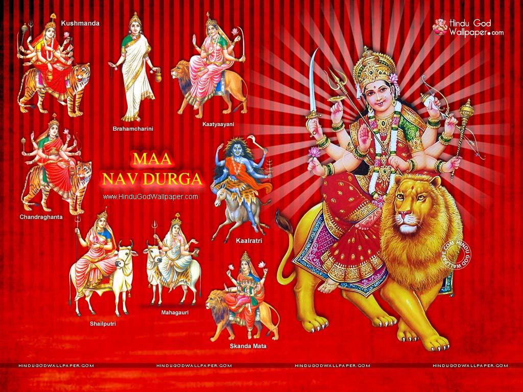 Maa Nav Durga Hd Wallpaper With Durga Photos Images Download