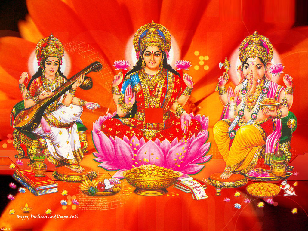 Lakshmi Devi Ganesha Diwali Backgrounds