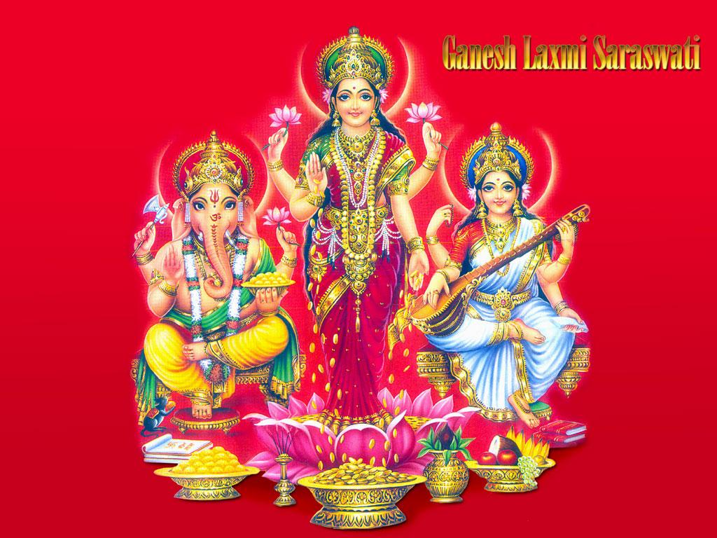 Laxmi Ganesh Saraswati Hd Wallpapers Full Size Download