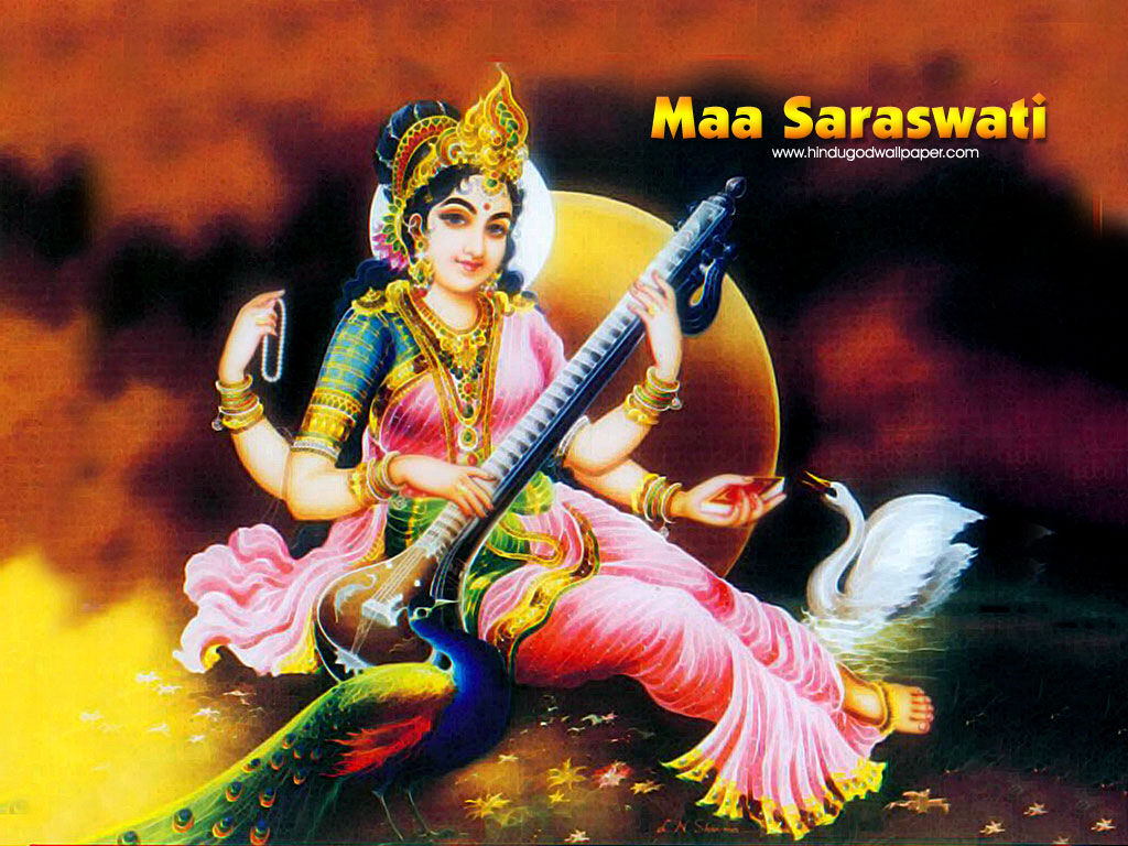 Goddess Saraswati Mata Desktop Hd Wallpapers